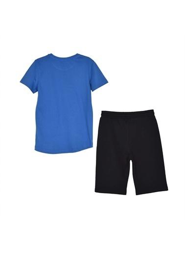 Silversun Kids Erkek Genç Baskılı Kısa Kollu Tişört Şort Takım- !Kt 315811 Saks